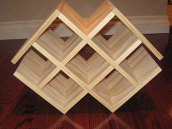Wine rack, pre-stained