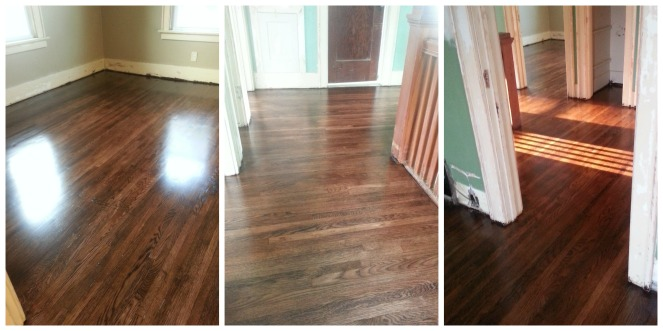 Upstairs floors. (Ignore the paint and trim. More to come on those! )