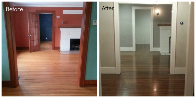 hall before after