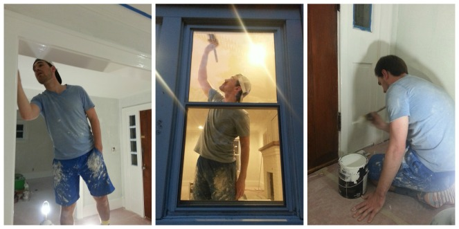 Painting trim, all day everyday