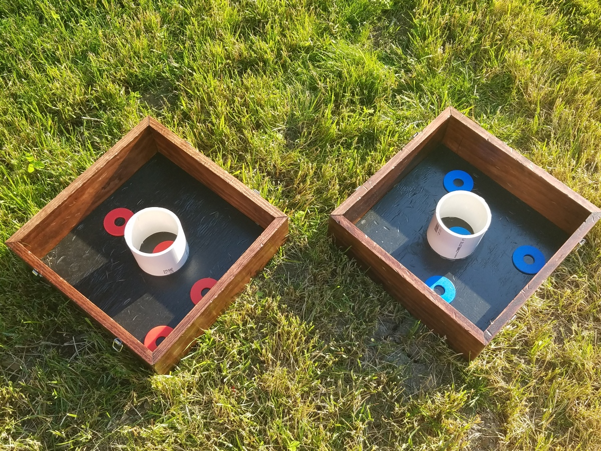 DIY Corn Hole and Washers
