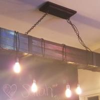 Wooden Beam Vintage Bar Light