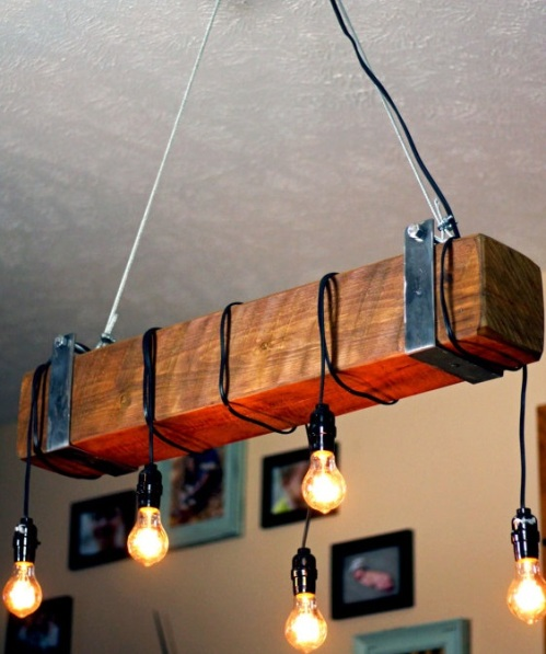 Wooden beam vintage bar light aloadofball Image collections