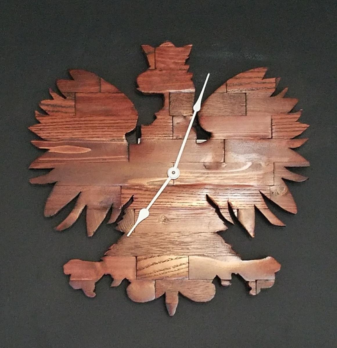 Butcher Block Polish Falcon Clock